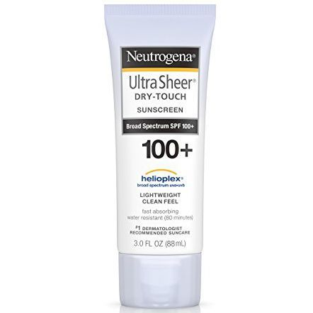 Creme solari consigliate dagli esperti: Neutrogena Ultra Sheer Dry-Touch Sunscreen 100+