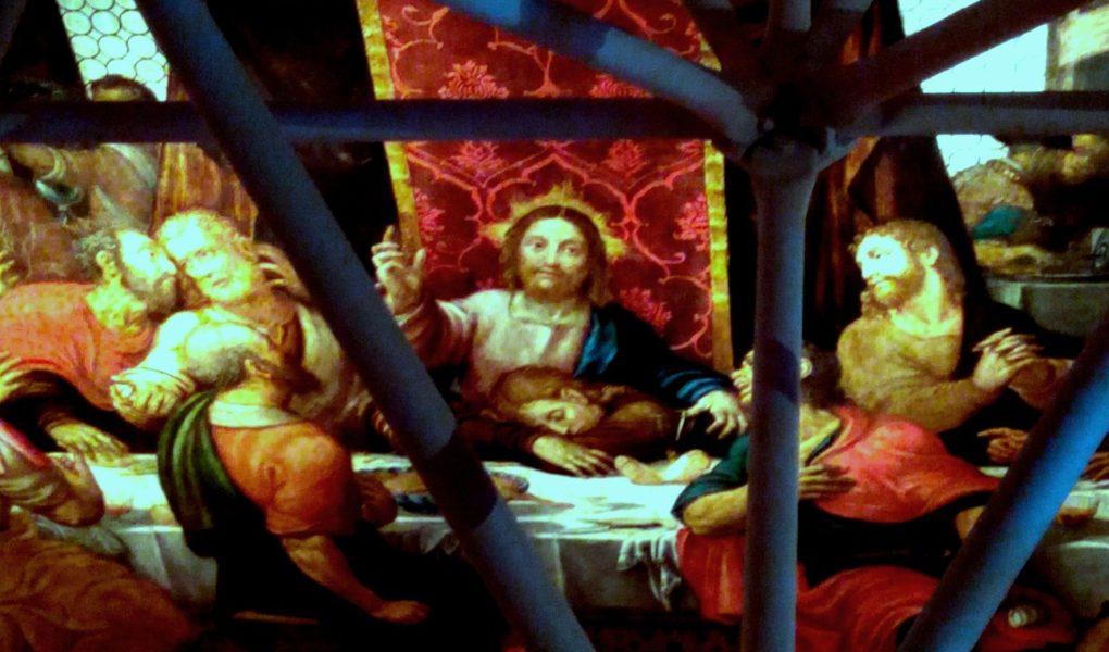 Udine, galleria d'Arte Antica del castello. La tela raffigurante l'Ultima Cena.