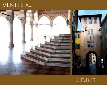 Udine, Loggia del Lionello e palazzi di Via Manin.
