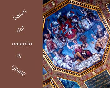Castello di Udine, soffitto del Salone del Parlamento.
