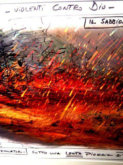 bozza della Sala Inferno al museo Zeffirelli