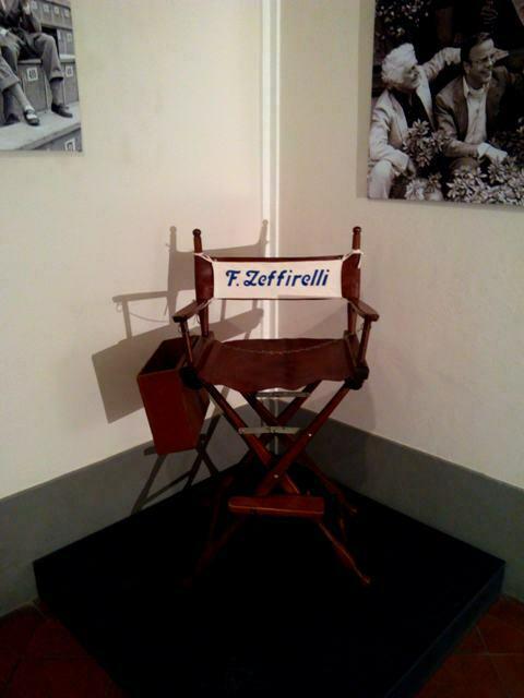 la sedia da regista di Franco Zeffirelli