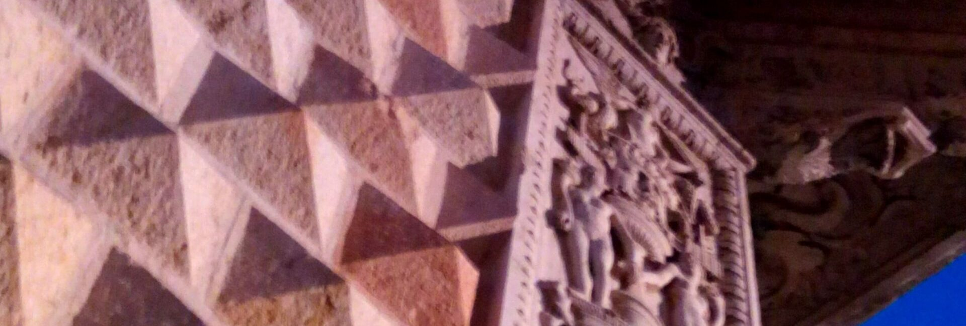 Palazzo dei Diamanti a Ferrara in una giornata di sole splendente
