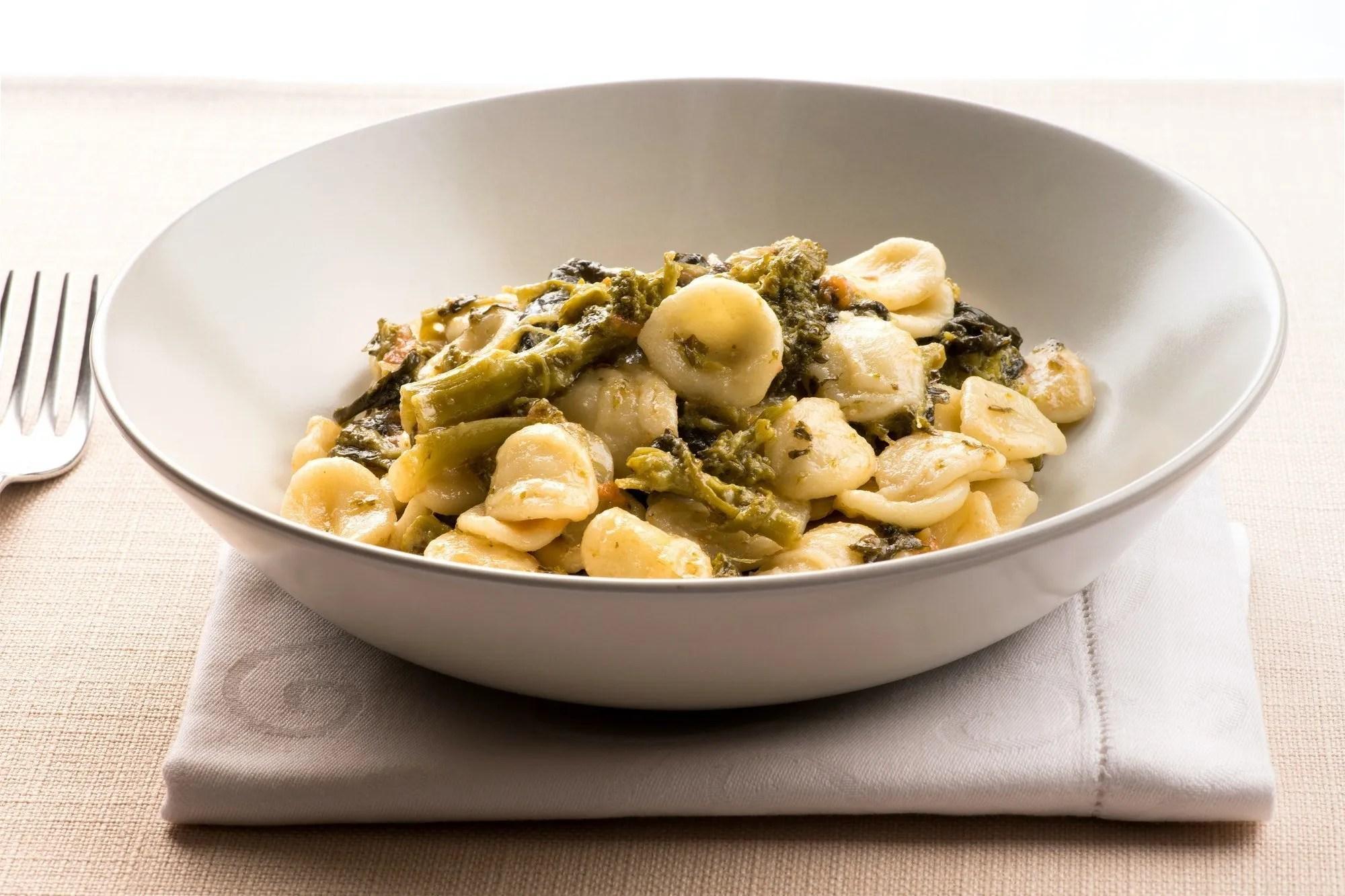 Bowl of Orecchiette Con Cime di Rapa from Puglia