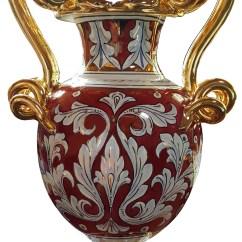 Decorative Glass Jars For Kitchen Aid Pro 600 Deruta Italian Ceramic Vase