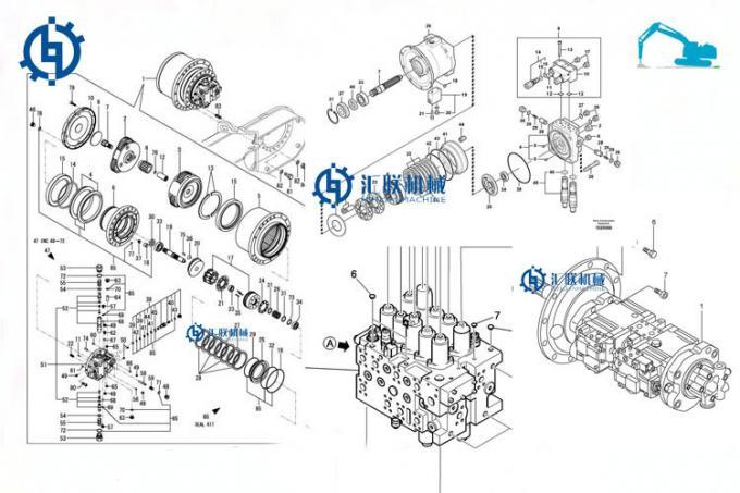 La pompa idraulica del corredo PC300LC-5 della guarnizione
