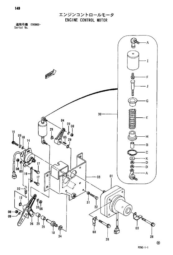 Motore di punto delle parti degli escavatori di Hitachi