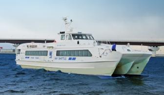 神戸空港と関空を結ぶ高速双胴船ベイシャトル(Kジェット)