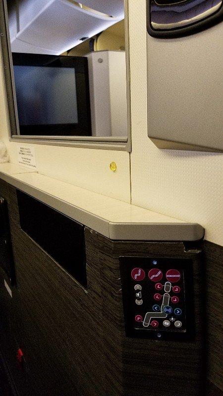 JALビジネスクラスシートのコントローラー