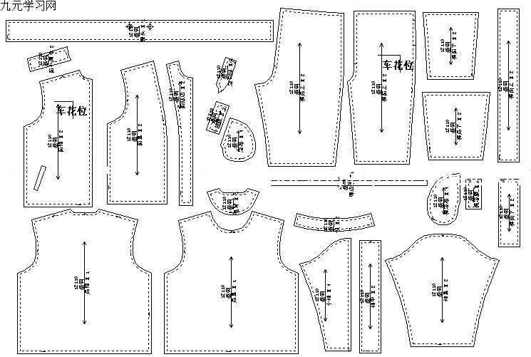 garments design paper pattern making table