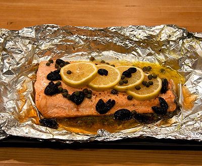 Aromatic Salmon Wrapped in Foil