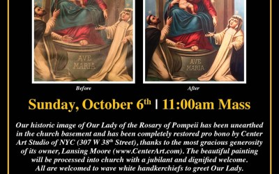 Italian Church In Brooklyn Plans Special Celebration: Restored Devotional Artwork To Be Processed