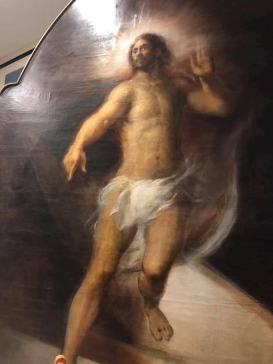 A painting in the old Italian Chapel beneath the Church