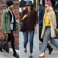 Cappelli Lana fashion: Le celebrities che affrontano il freddo