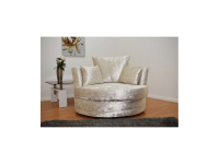 crushed velvet cuddle love chair in cream colour