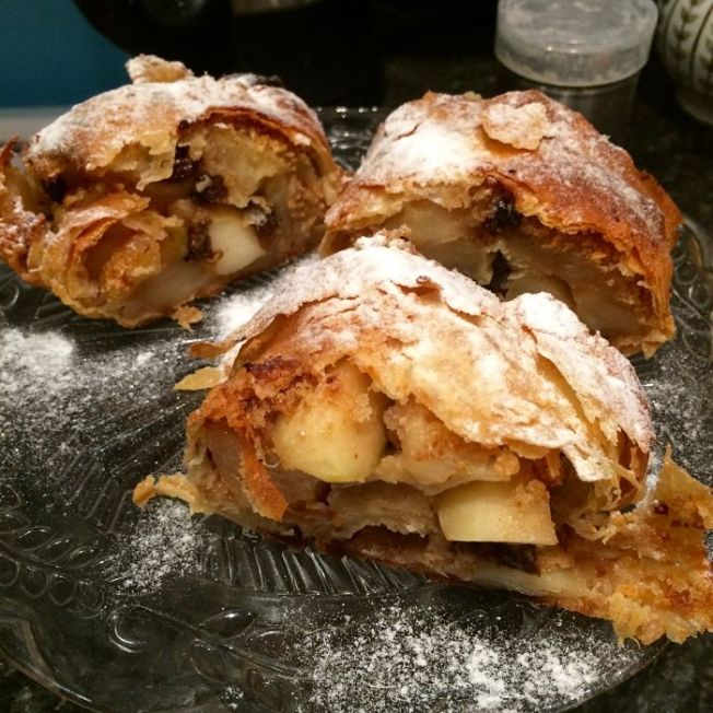 Italian apple strudel