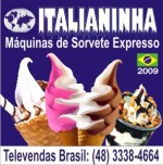 MÁQUINAS DE SORVETE EXPRESSO ITALIANINHA - VENDAS BRASIL (48) 3338-4664
