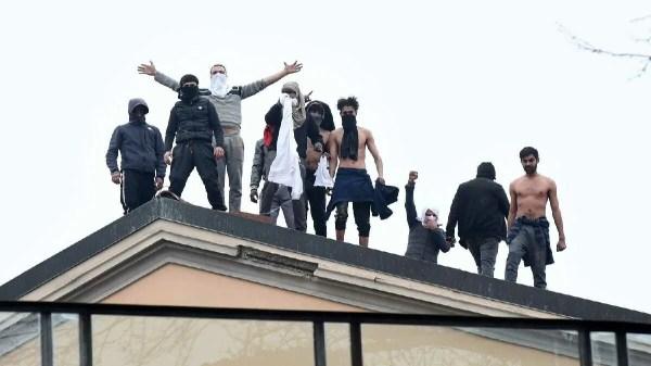 Mafiosos em protesto na Itália