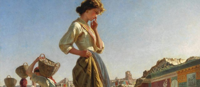 """""""Fanciulla negli scavi di Pompei"""" di Filippo Palizzi"""
