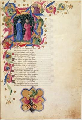 La Divina Commedia di Alfonso d'Aragona. Londra, British Library, Ms. Yates Thompson 36