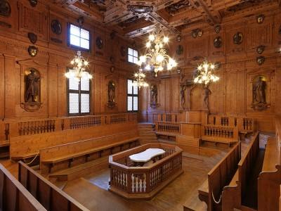 Bologna, il Teatro Anatomico (Palazzo dell'Arciginnasio).