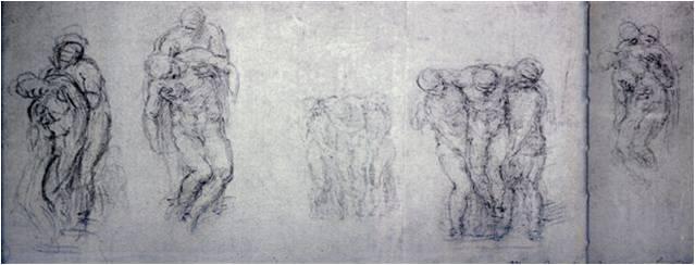 "Эскизы к ""Пьете Ронданини"". Оксфорд, Музей Эшмола. 1550-е."