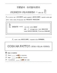 ESSERE-AVERE - T. semplice - T. Composto - CANTORE 2