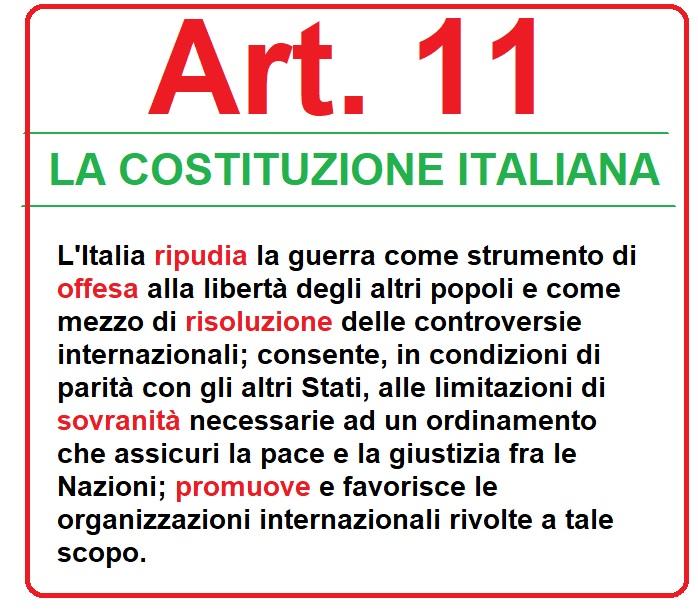 art. 11 costituzione italiana