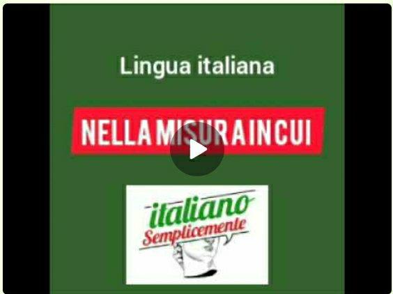 Nella misura in cui - locuzione italiana