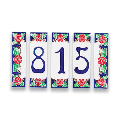 House Number Plaque For Four  Italian Pottery Outlet