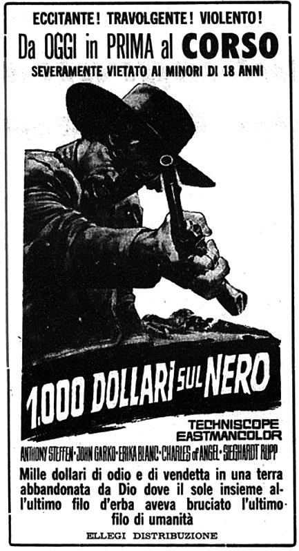 [Western] 1000 dollari sul nero (1966)