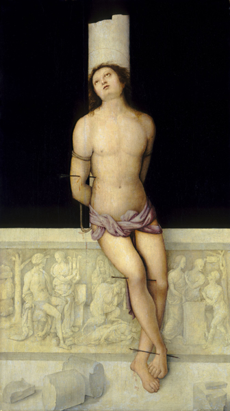 Image result for ancient statue in renaissance painting