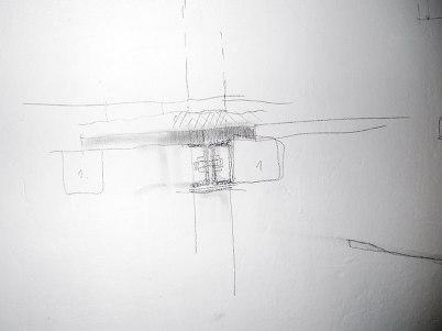 Wall sketches explaining the new beam structure