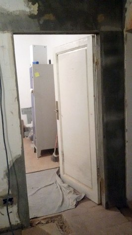 New bedroom door aperature