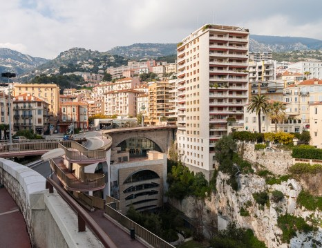 View of Monaco railway station