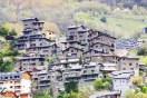 City at Pyrenees mountains. Andorra la Vella