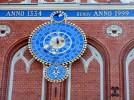 Old clock on Riga landmark