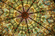 Buenos Aires Stained Glass Ceiling
