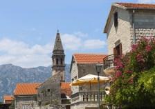 St. Nicholas Church in Perast town. Bay of Kotor