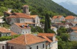 Perast town panoramic landscape, Kotor Bay, Montenegro