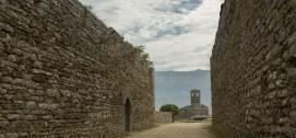 Walls of old city Gjirokastra, Albania