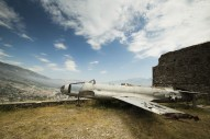Famous airplane located in fortress of Gjirokastra, Albania