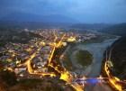 Berat in Albania at nighttime