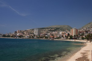 Overview on the city of Saranda in Albania