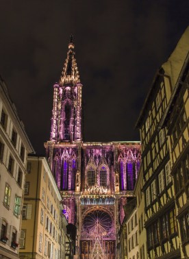 Illumination of Strasbourg Cathedral - Alsace, France