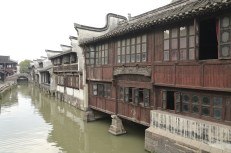 Suzhou old wooden town in China