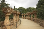 colonnade in Gaudi's Parc Guell