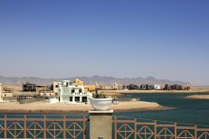 Construction of artificial beach resorts in El Gouna, Egypt