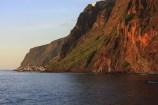 Madeira landscape at sunset.