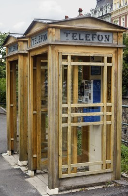 phone booth in Karlovy Vary